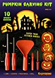 from CarveKing 2014 Pumpkin Carving Kit with 10 Designs & 5 Tools