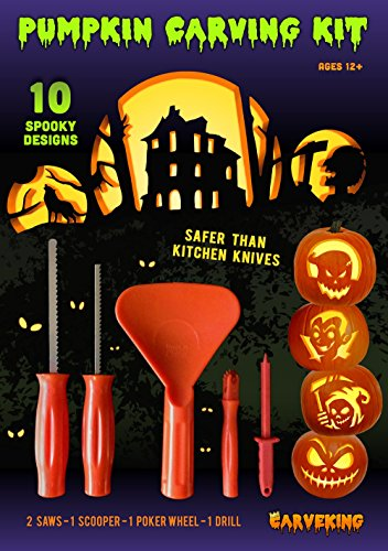 2014 Pumpkin Carving Kit With 10 Designs & 5 Tools By Carveking