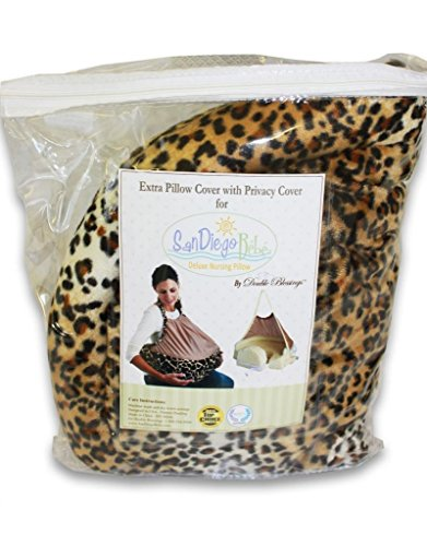 Extra Cover for San Diego Bebe Eco Nursing Pillow, Cheetah - 1