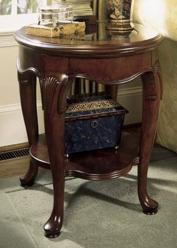 American Drew Cherry Grove Round End Table in Classic Antique Cherry Finish