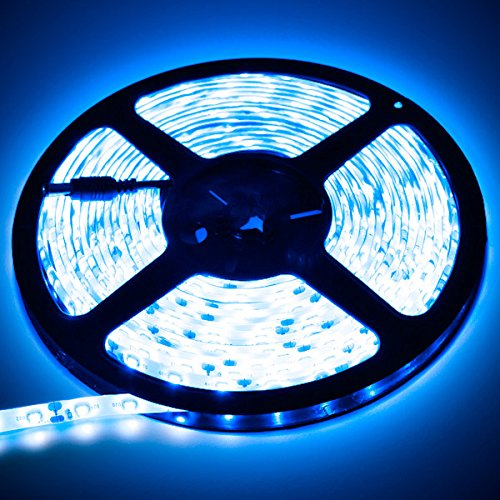 3.3' Feet Blue 60 Leds Bright Light Remote Control Dimmer Kit Smd3528 110V Plug - Led Strip Lighting For Aquariums, Bedrooms, Bathrooms, Commercial, Garage, Kitchen, Living Room, Man Caves, Offices, And Vehicles Led Reading Light Strip Night Light Lamp Bu