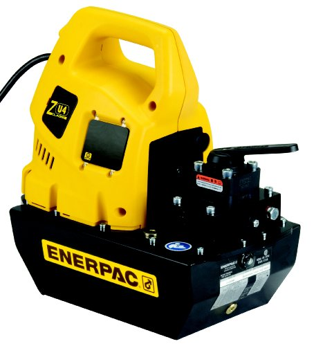 Enerpac Zu4204Mb Portable Electric Pump With Vm32 Manual Valve Standard 115 Volts And 4 Liters Usable Oil Capacity