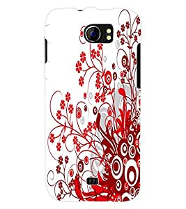 ColourCraft Floral Design Back Case Cover for MICROMAX CANVAS 2 A110