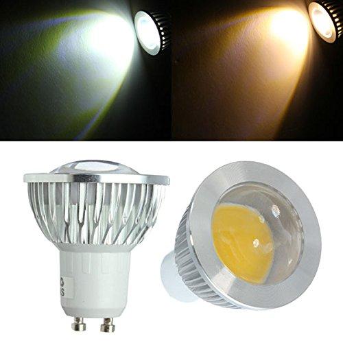 Gu10 Led Bulbs 3W Cob Ac 85-265V Warm White/White Spot Light