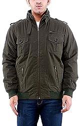 Time Option Men's Cotton Jacket (5004-Olive_44)