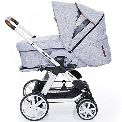 ABC Design Kombi-Kinderwagen Turbo 6 Style - Graphite Grey grau, braun -