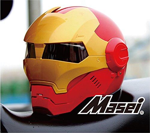 ジェット ヘルメット ロボヘル610 Automic Man レッド/ゴールドXL Masei(マセイ) MA-610-RG-XL