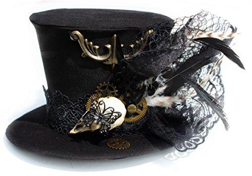 cappello-cappellino-raro-lavorazione-accurata-rq-bl-lemissione-gotico-steampunk-head-piece