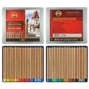 Amazon.com : Koh-i-noor Gioconda - 48 Soft Pastel Pencils. 8829 : Wood