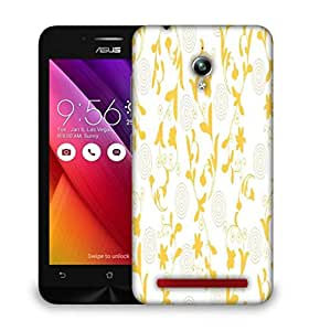 Snoogg Yellow Leaves Designer Protective Phone Back Case Cover For Asus Zenfone GO