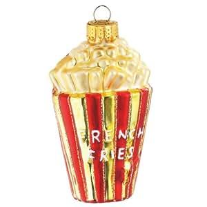 Amazon.com: Glass French Fries Christmas Ornament 283929 ...