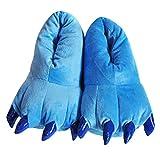 Happy Cherry Zapatos Zapatillas de Terciopelo Franela Disfraz de Garra de Animal Hombre Mujer Ni�os Cosplay Costume - Azul M