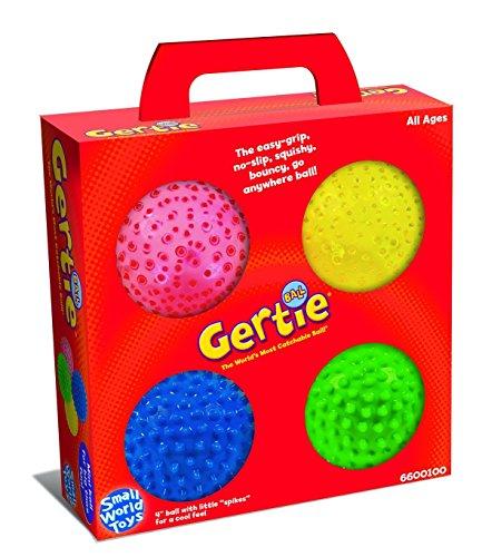 "4-Count, 4"", Mini Bumpy Ball in Yellow, Red, Green & Blue"