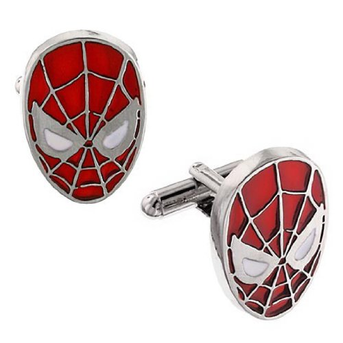 Official Mens Marvel Comics Spiderman Face Mask Cufflinks - Boxed