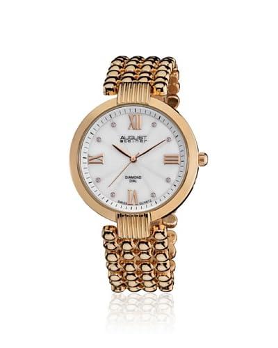 August Steiner Women's AS8065RG Gold Ball Bracelet Watch