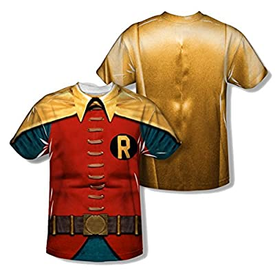 Batman Classic TV Robin Costume All Over Youth Front/Back T-Shirt