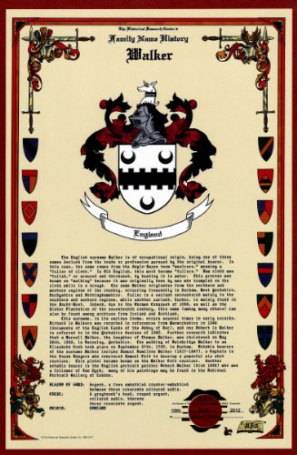 Walker Coat Of Arms/Crest And Family Name History, Meaning & Origin Plus Genealogy/Family Tree Research Aid To Help Find Clues To Ancestry, Roots, Namesakes And Ancestors Plus Many Other Surnames At The Historical Research Center Store front-58245