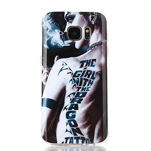 Galaxy S7 Case, Dobbytech Premium Durable Anti-slip Cover Protective Lightweight Slim Fit Shock Absorbing Shatterproof Anti-scratches Soft TPU Case for Samsung Galaxy S7 (Tatoo)