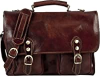 Alberto Bellucci - Parma Laptop Messenger Brief Bag, Handmade in Italy by Alberto Bellucci