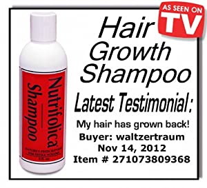 Our BEST SELLING All Natural Nutrifolica Hair Regrowth Shampoo Grow Growth