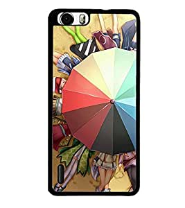 Fuson Premium 2D Back Case Cover Girls under Umbrella With Purple Background Degined For Huawei Honor 6
