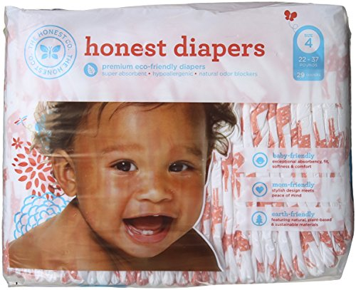 The Honest Company Disposable Diapers - Giraffe - Size 4 - 29 ct - 1