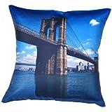 MeSleep Digital Print Beautiful Bridge 4 Piece Cushion Cover Set - Multicolor