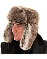 New Mens Ladies Unisex Thick Faux Fur Trapper Warm Winter Thermal Hat A781. Fully Satin Quilt Lining.A Very Warm Hat. Sizes 58, 59 or 60cm