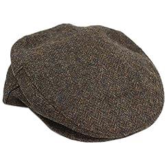 Tweed Cap Brushed Brown Herringbone Limited Edition Irish Made