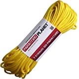 Paracord Planet Mil-Spec Commercial Grade 550lb Type III Nylon Paracord 10 feet Yellow
