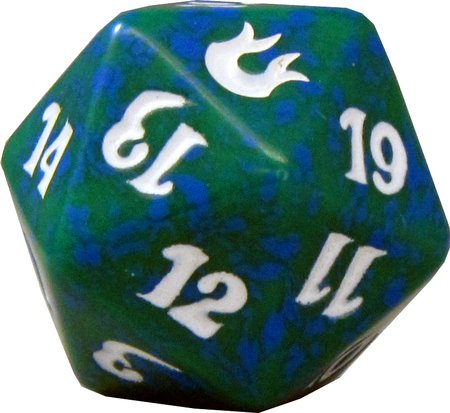 MTG Spindown D20 Life Counter - Born of the Gods Green