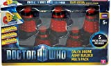 Doctor Who Set Of 5 Red Dalek Drone Army Builder Pack Toy