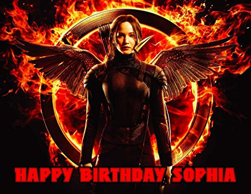 The Hunger Games Mockingjay Katniss Edible Image Photo Sugar Frosting Icing Cake Topper Sheet Personalized Custom Customized Birthday Party - 1/4 Sheet - 76321 (Hunger Games Cake Topper compare prices)