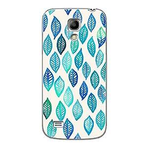 EYP Blue Leaves Pattern Back Cover Case for Samsung S4 Mini