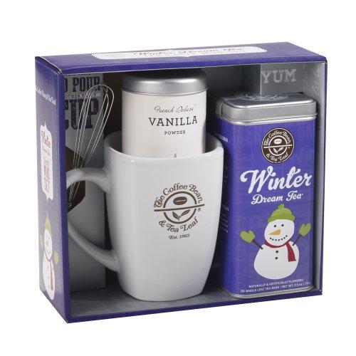 The Coffee Bean & Tea Leaf Winter Dream Tea Latte Gift Set,  Winter Dream Tea, Vanilla Powder And Ceramic Mug