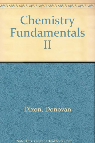 Supplement for Chemistry Fundamentals II