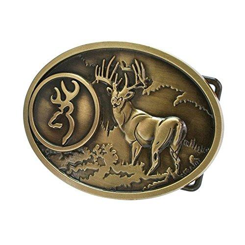 pancy-buck-hunter-whitetail-deer-emblem-buckmark-belt-buckle