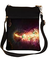 Snoogg Abstract Amazed Design Cross Body Tote Bag / Shoulder Sling Carry Bag