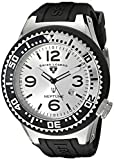 Swiss Legend Men's 21818P-02-S Neptune Silver Dial Black Silicone Watch
