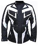 Bangla Motorradjacke Touren Motorrad Jacke Textil Schwarz Weiss 1535 M