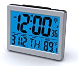 Super Bright Atomic Alarm Clock Blue Light National Time