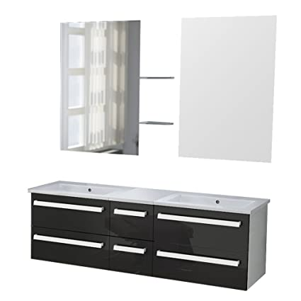 Zurich Bathroom Furniture Set Black