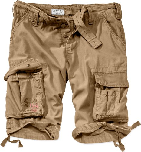 Surplus Uomo Airborne Vintage Pantaloncini Lavati Beige taglia XL