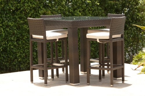 Bali Outdoor/ All Weather Wicker Bar Set