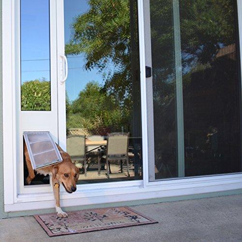 White Frame Hardware Building Materials Doors Utility Doors Pet Doors