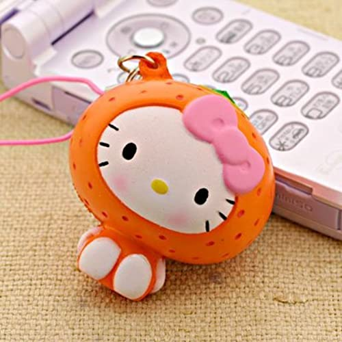 "Hello Kitty ~1.75"" Orange Fresh Fruit Ball Soft Mascot Charm (Japanese Import) [병행수입품]-"