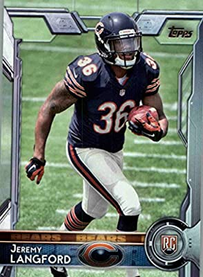 2015 Topps #471 Jeremy Langford RC - Chicago Bears (RC - Rookie Card) (NFL Football Cards)