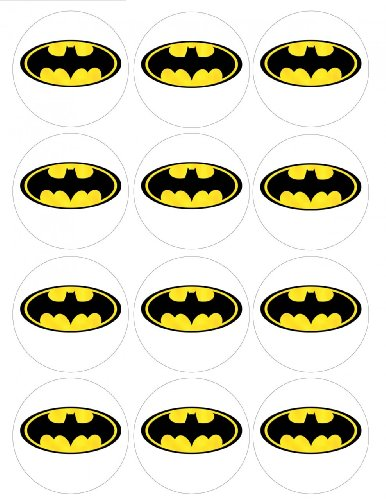 batman cupcake topper template isaacs party pinterest