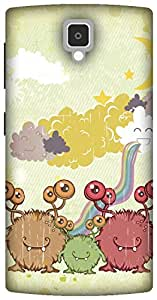 The Racoon Lean Family of Monsters hard plastic printed back case/cover for Lenovo A1000