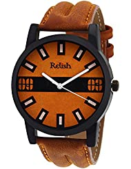 Relish Casual Tan Leather Strap Men's Watch RELISH-534